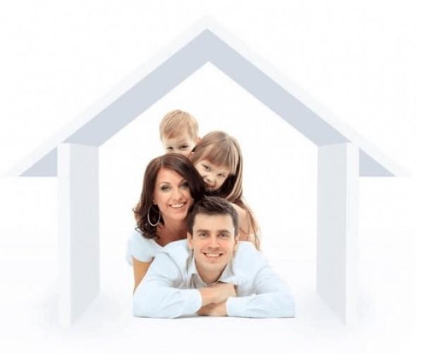 Семья в домике