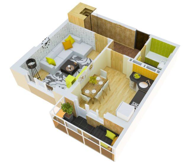 3d-model-odnokomnatnoj-kvartiry-zhk-kaskad