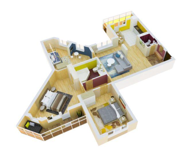 3d-model-trehkomnatnoj-kvartiry-zhk-kaskad
