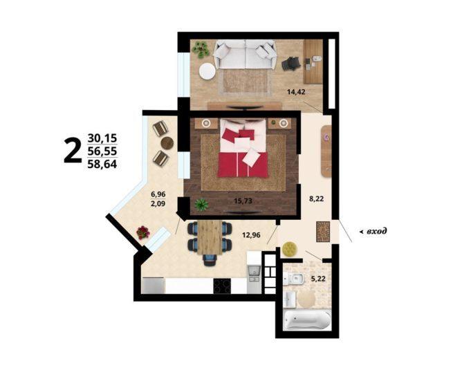 dvuhkomnatnaja-kvartira-58.64-m2