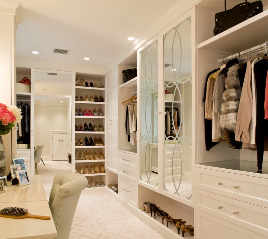Размещение гардеробной